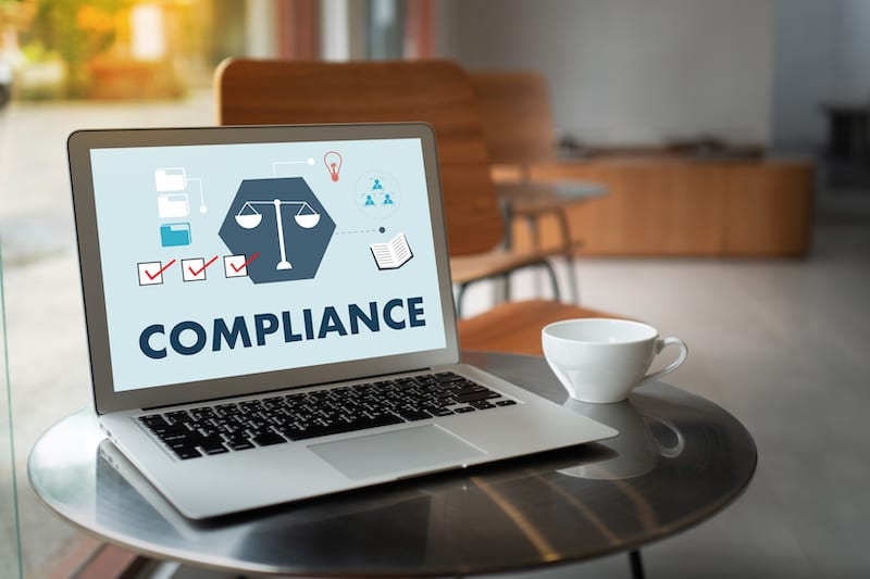 compliance concept with laptop - Health and Safety